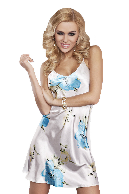Košilka Karen s modrým květinovým vzorem