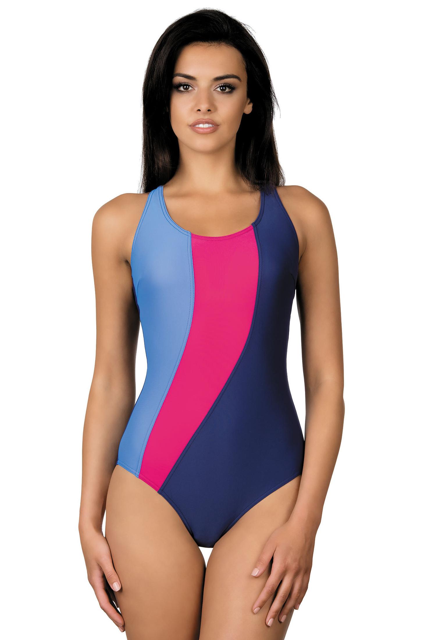 Dámské sportovní plavky Gita modro červené