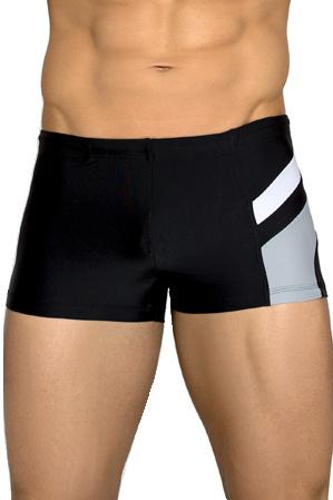 Pánské plavky boxerky Brando černo šedé