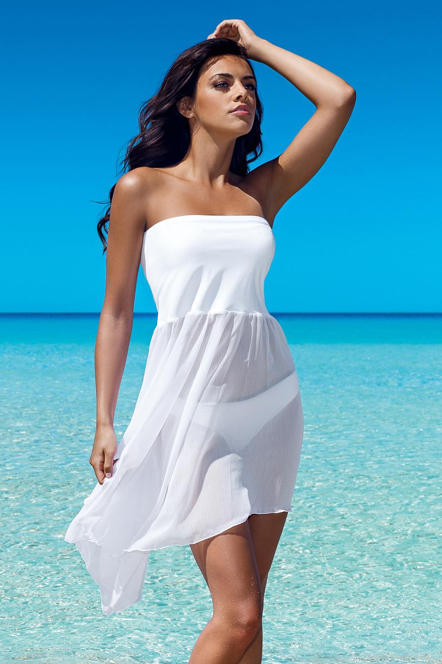 Bílá plážová sukně Margaret 2