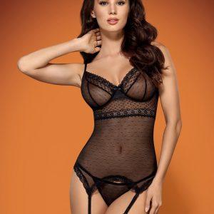 Korzet 817-COR corset - Obsessive L/XL Čierna-OBSESSIVE