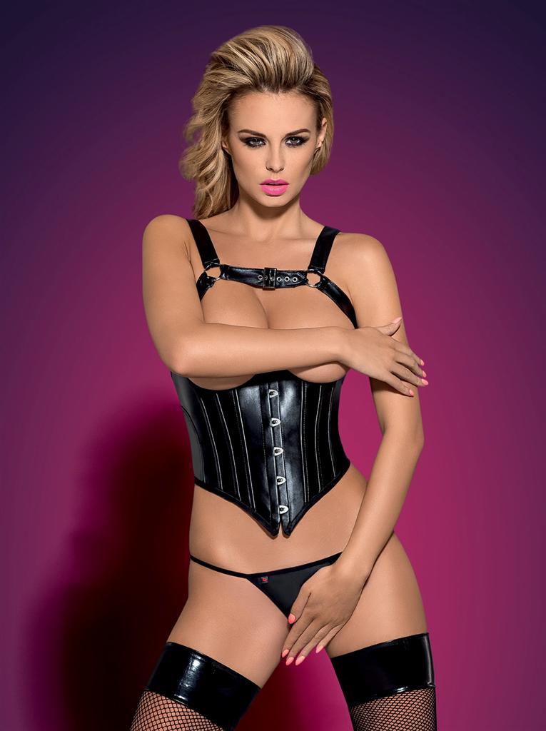 Korzet Darksy corset - Obsessive L/XL Čierna-OBSESSIVE