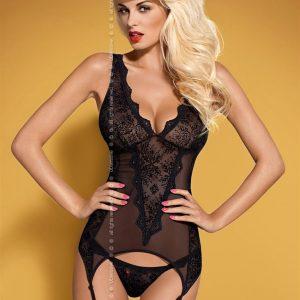 Korzet Emperita corset - Obsessive S/M Čierna-OBSESSIVE