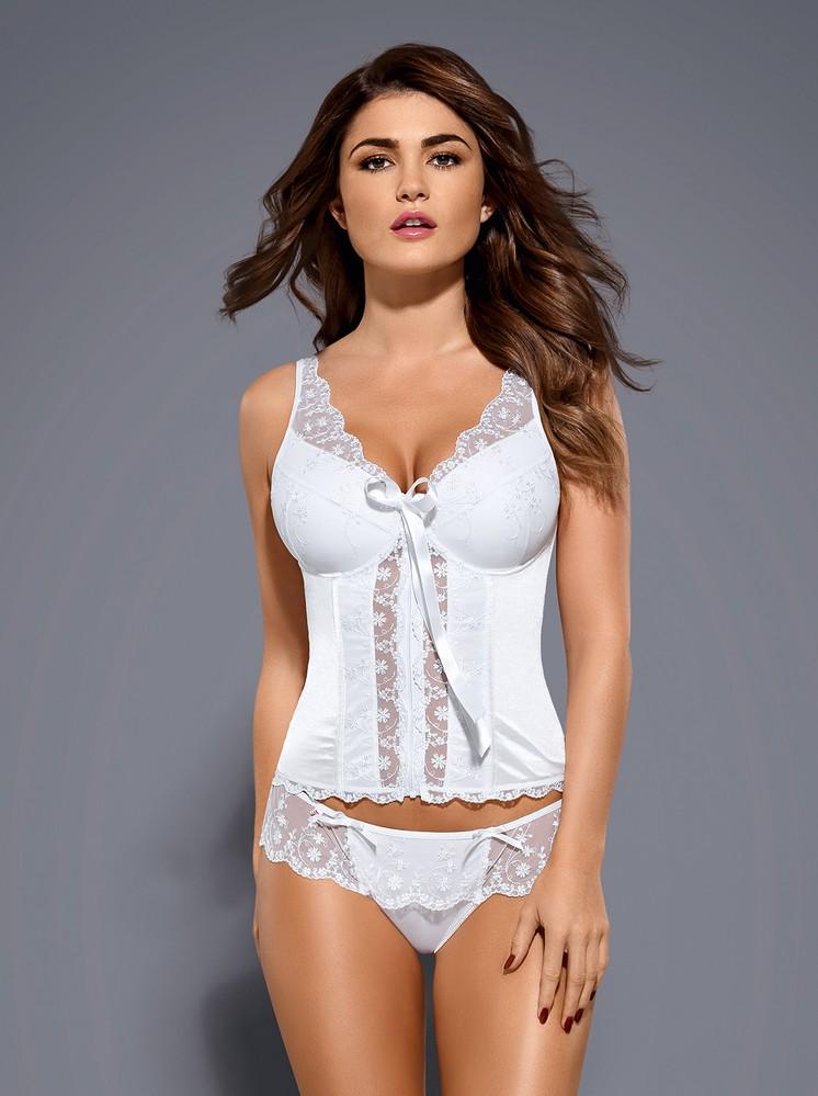 Korzet Etheria corset - Obsessive L/XL Biela-OBSESSIVE