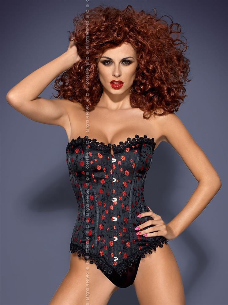 Sexy kostým Cabernet XXL - Obsessive XXL Čierna-OBSESSIVE