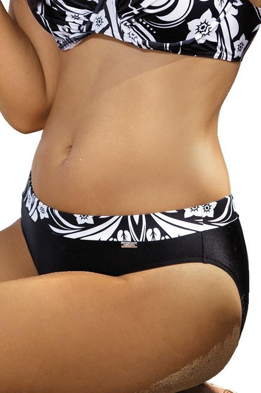 Černobílé dámské plavky Tracy dolní díl