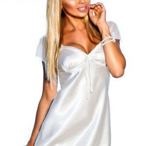 Dámská saténová košilka Valencia bílá