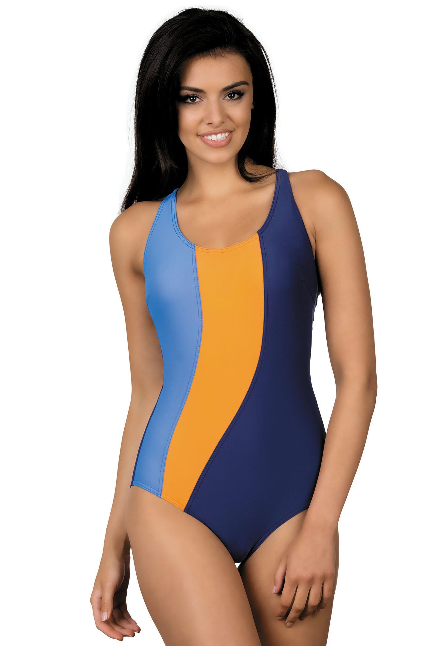 Dámské sportovní plavky Gita modro oranžové