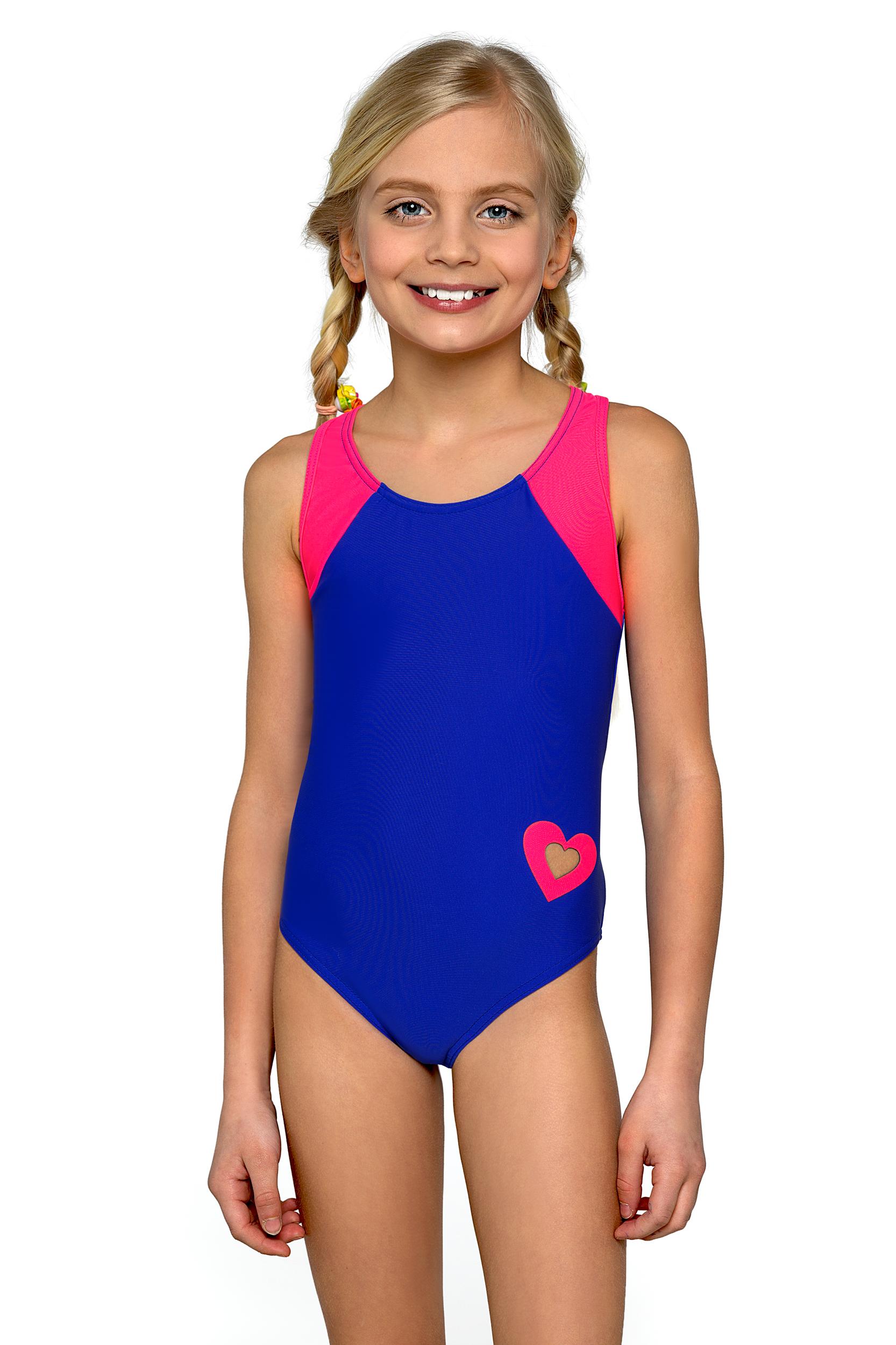 Plavky dívčí jednodílné Eliška modro růžové