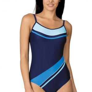 Dámské jednodílné plavky Nena tmavě modrá tyrkysová