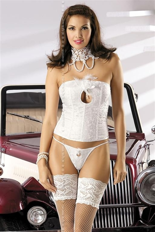 Korzet Mylove corset - Obsessive S/M Biela-OBSESSIVE